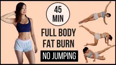 45-min Full Body Fat Burn HIIT at home with NO JUMPING