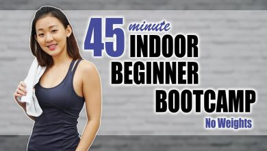45-Min Beginner's Indoor Bootcamp to Lose Weight